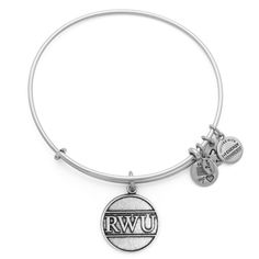 Roger Williams University Charm Bangle, Rafaelian Silver Finish