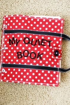 Quiet Book DIY idea - complete book with photos of all pages