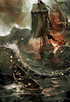 Lady leaving the fight in a storm...hmmm two bad choices... art byTomasz Jedruszek