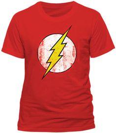 Flash Distressed Logo Blue Boys T-Shirt DC Comics series top