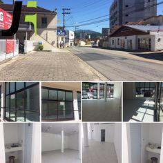 Aluga-se sala comercial com 110 m2, 2 banheiros, amplo estacionamento em Brusque/SC, bairro Santa Rita!