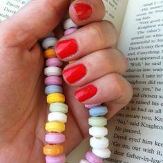 Retro sweets and sunset orange nails <3