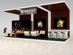 Nespresso Exhibition Stand Design by Katalin Ercsényi, via Behance