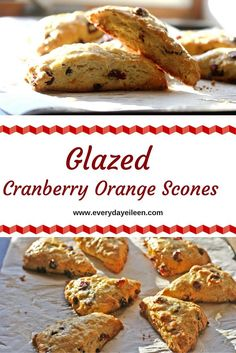 glazed cranberry orange scones - low-fat and easy to prepare! These are perfect with your morning tea!
