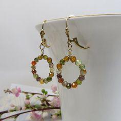 Zircon Hoop Earrings Autumn in New York Earrings by SLCDesignsUK