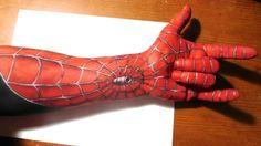 Painting a Spiderman Half Sleeve on my Arm