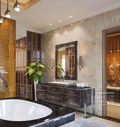 Дизайн интерьера ванной комнаты.  Архитектор дизайнер Ирина Рихтер INSIDE-STUDIO Прага
