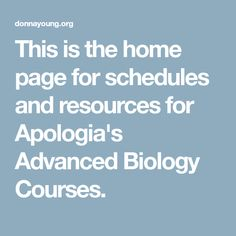 83 best homeschool images on pinterest homeschool homeschooling this is the home page for schedules and resources for apologias advanced biology courses fandeluxe Choice Image