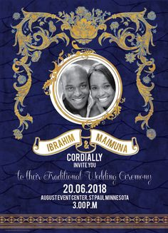 Now you can add a personal touch to Your African Wedding Invitation by using your own photo! Wedding Renewal Invitations, Modern Wedding Invitations, Wedding Invitation Design, Wedding Programs, Ghana Traditional Wedding, African Traditional Wedding Dress, Igbo Wedding, Wedding Cake, Ethiopian Wedding