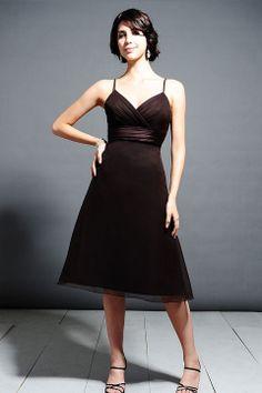 Pretty sleeveless A-line bridesmaid dress