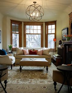Living Room Oak Trim Design Ideas, Pictures, Remodel, and Decor - page 5