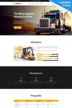 Take a closer look at this Logistic - Moving Company MotoCMS 3 Landing Page Template ( and you could fall in love with it. Clean, professional and simple design. Ecommerce Web Design, Web Design Services, Wordpress Theme Design, Webpage Layout, Web Layout, Layout Design, Company Presentation, Landing Page Design, Page Template