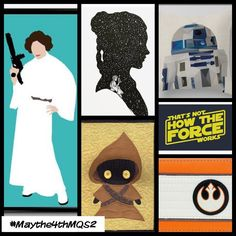 Here's another inspirational mosaic for #maythe4thmqs2 - I won't lie I cried quite a few times the week after Carrie Fisher died. Princess Leia was my first hero as a child and I was incredibly lucky to get to see her at comic con. I didn't meet her but had the privilege of hearing her speak and do Q&A with fans and she is even more badass than Leia. I would be thrilled with anything you come up with but I'm especially fond of the princess these days. I love droids like crazy too especially…