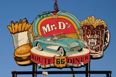 Old Route 66, Route 66 Road Trip, Historic Route 66, Travel Route, Road Trip Usa, Travel Oklahoma, Route 66 Sign, Vintage Diner, 50s Diner