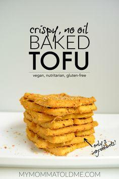 no oil nutritarian recipe crispy baked tofu Dr fuhrman eat to live 6 week program dr fuhrman plan