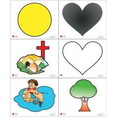 Aula Bíblica Pre-primario 008 Wordless Book, Kids Class, Sunday School Crafts, Kids Church, Bible Lessons, Books, Fictional Characters, Professor, Child