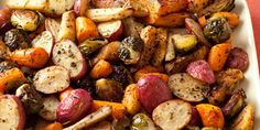 Roasted Potatoes, Carrots, Parsnips and Brussels Sprouts by Giada De Laurentiis