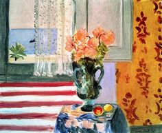 Vase of Flowers in front of the Window - Henri Matisse , 1924   French 1869-1954