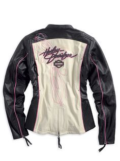Harley-Davidson® Womens Pink Label *Limited Edition*  Leather Jacket 97010-14VW