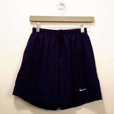Lined Nike shorts with drawstring Navy Nike shorts with lining and hidden pocket. Comfy and versatile! Nike Shorts