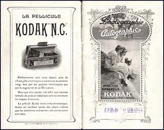 1917 Kodak Autographic Catalog, from France with an ad for non-curling film on the back cover. Superbe!