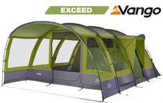 The Vango Langley 600XL is a spacious six-person tunnel tent. It features sleeping space for 6 people, a large living area and built in sun canopy at the front.