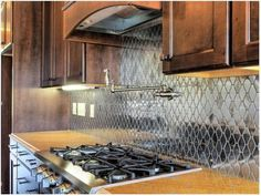 Stainless Stell mosaic backsplash