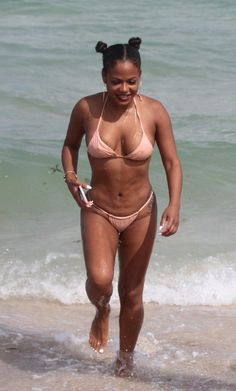 EVERYONE would love to see black R&B singer Christina Milian nude. Today is your lucky day, boys. Bikini Beach, Thong Bikini, Christina Millian, Bikinis, Swimwear, Miami, Naked, Singer, Boys