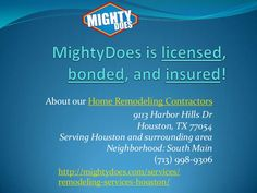 MightyDoes match you to pre-screened home remodeling contractors in your local area. Receive free estimates today at http://mightydoes.com/services/remodeling-services-houston/ #commercialhomeservicres