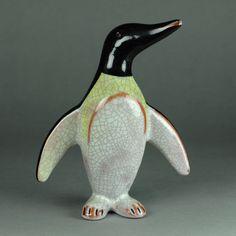 WALTER BOSSE - Pinguin 14 cm Keramik (1 Stück) Karlsruher Majolika - ceramic http://stores.ebay.de/universal-arts