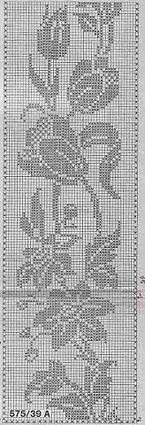 Цветочные узоры в филейной технике - Филейное кружево - Страна Мам