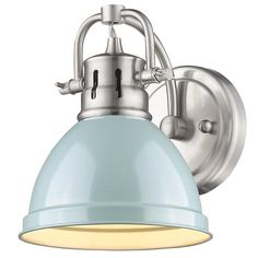 Classic Dome Shade Bath Sconce Could only pin blue but going with white--Girls' bath