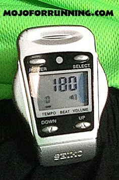 This is probably MojoforRunning.com's favorite electronic device. I love using the metronome to work on running form by improving cadence. Remember, ideal cadence is approximately 180 food strikes per minute at any pace.