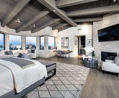 Dream Master Bedroom, Master Bedroom Design, Home Decor Bedroom, Modern Bedroom, Bedroom Designs, Contemporary Bedroom, Trendy Bedroom, Beautiful Master Bedrooms, Master Bedrrom