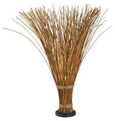 Kenroy Home 21065NR Sheaf 46 Inch Tall Natural Reed Floor Lamp - KEN-21065NR
