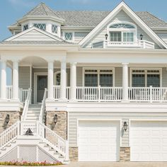 White Trim Exterior Design Ideas, Pictures, Remodel and Decor