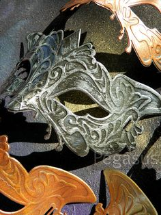 DIY ON THIS for Halloween!!! Iron Silver Steampunk Masquerade Mask base 1 Mask by pegasus22, $6.00
