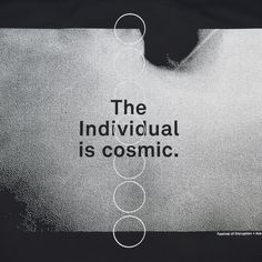 """""""Life is a festival of disruption."""" — Maharishi Mahesh Yogi The sturdy """"The Individual Is Cosmic"""" tote delivers a message of transcendence — one of David's favo"""