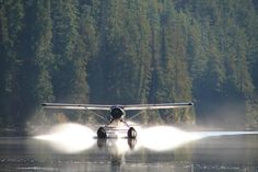 Remote lake in a float plane.