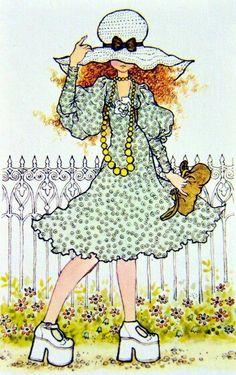 Sarah Kay teen Sarah Key, Mary May, Vintage Drawing, Holly Hobbie, Australian Artists, Character Drawing, Vintage Pictures, Vintage Cards, Clipart