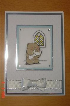 A forever friends stamped decoupage christening card