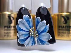 Flower Nail Designs, Nail Art Designs, Acylic Nails, Floral Nail Art, Manicure Y Pedicure, Nail Art Videos, Girls Nails, New Nail Art, Flower Nails