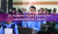 LAHORE: At least 34 students have tested positive for coronavirus in Punjab since reopening of schools in the province on 15th September 2020 according to the Punjab Primary and Secondary Healthcare Department.
