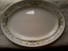 Vintage China Pottery Oval Serving Plate Homer by MyGoldenTree, $14.00