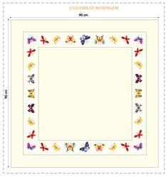 Gráfico de borboletas em ponto cruz - Portal de Artesanato - O melhor site de artesanato com passo a passo gratuito