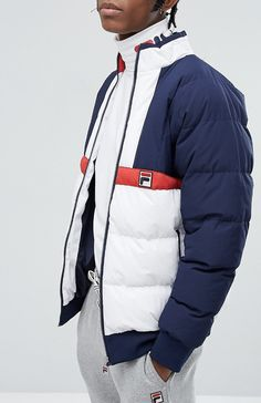 On my wish list :  Fila Black Line Ski Padded Jacket  from ASOS #ad #men #fashion #shopping #outfit #inspiration #style #streetstyle  #fall #winter #spring #summer #clothes #accessories