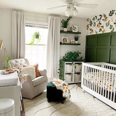 This nursery is a CUTIE! (Pun intended) Head to stories to see more of our FOODIE collection, which is 15% off thru 7/31. No code needed.   Photo: @greywoodmama