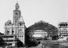 Obras finais da construção da Estação da Luz, aproximadamente em 1899. Crédito…
