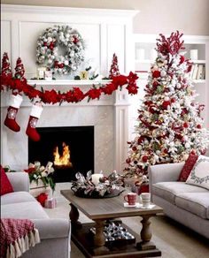 Artificial fir tree as Christmas decoration? An artificial Christmas Tree or a real one? Lovers of artificial Christmas decorations , such as for instance Christmas tree or artificial Advent wreath kn Christmas Living Rooms, Christmas Room, Christmas Mantels, Noel Christmas, Christmas Themes, Christmas Crafts, Holiday Ideas, Rustic Christmas, Christmas Decorating Themes