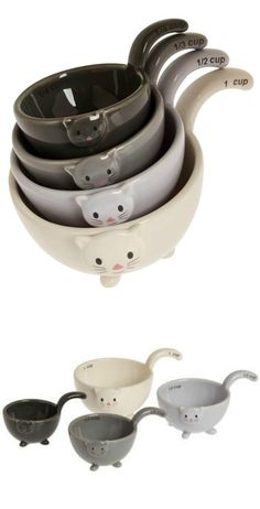 stacked cat measuring cups